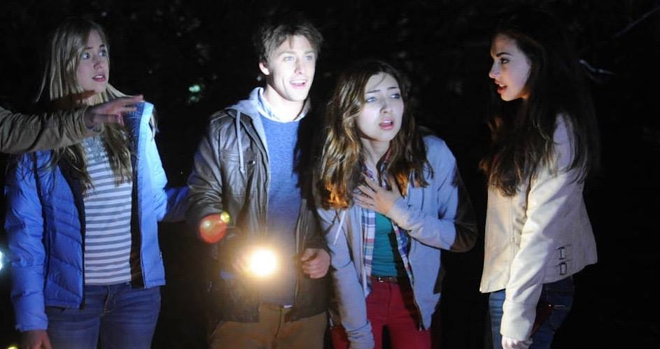 """From L-R: Taylor Murphy as Amelia, Mitch Hewer as Ben, Shelby Young as Robin and Chloe Bridges as Nia in the Lionsgate feature film, """"Nightlight"""""""