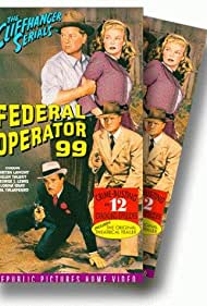 Marten Lamont, Rex Lease, George J. Lewis, and Helen Talbot in Federal Operator 99 (1945)
