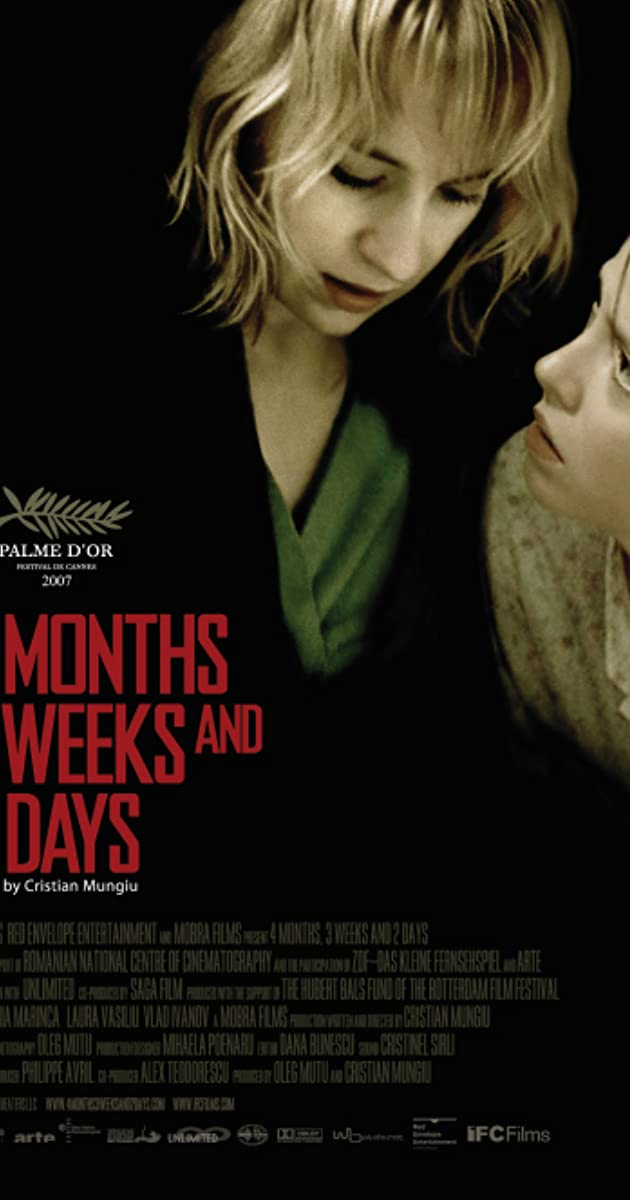 Subtitle of 4 Months, 3 Weeks and 2 Days