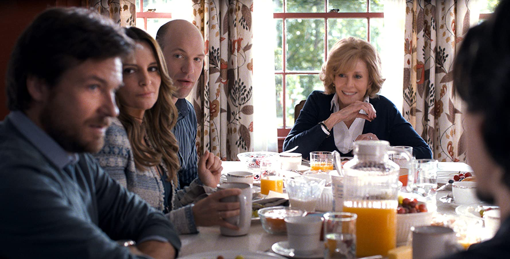 Jane Fonda, Jason Bateman, Tina Fey, and Corey Stoll in This Is Where I Leave You (2014)