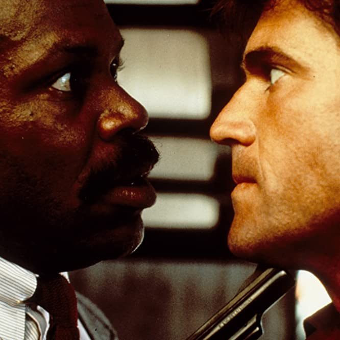 Mel Gibson and Danny Glover in Lethal Weapon (1987)
