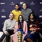Demi Moore, Ed Helms, Jessica Williams, Patrick Brice, and Karan Soni at an event for The IMDb Studio at Sundance (2015)