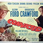 Glenn Ford and Broderick Crawford in Convicted (1950)