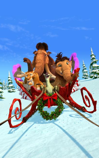 Ice Age A Mammoth Christmas (2011) 720p Dual Audio Hindi BluRay 200MB