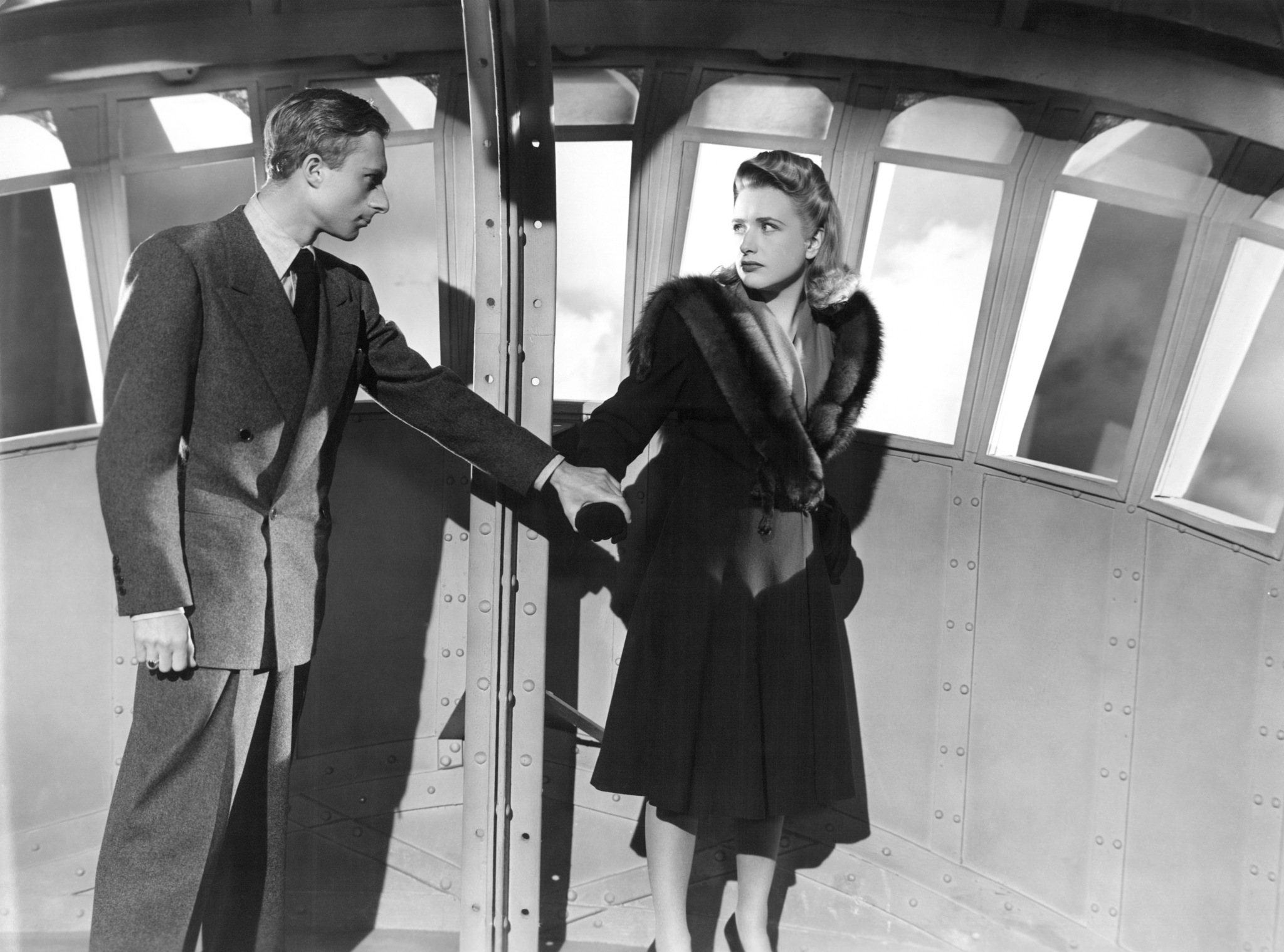 Priscilla Lane and Norman Lloyd in Saboteur (1942)