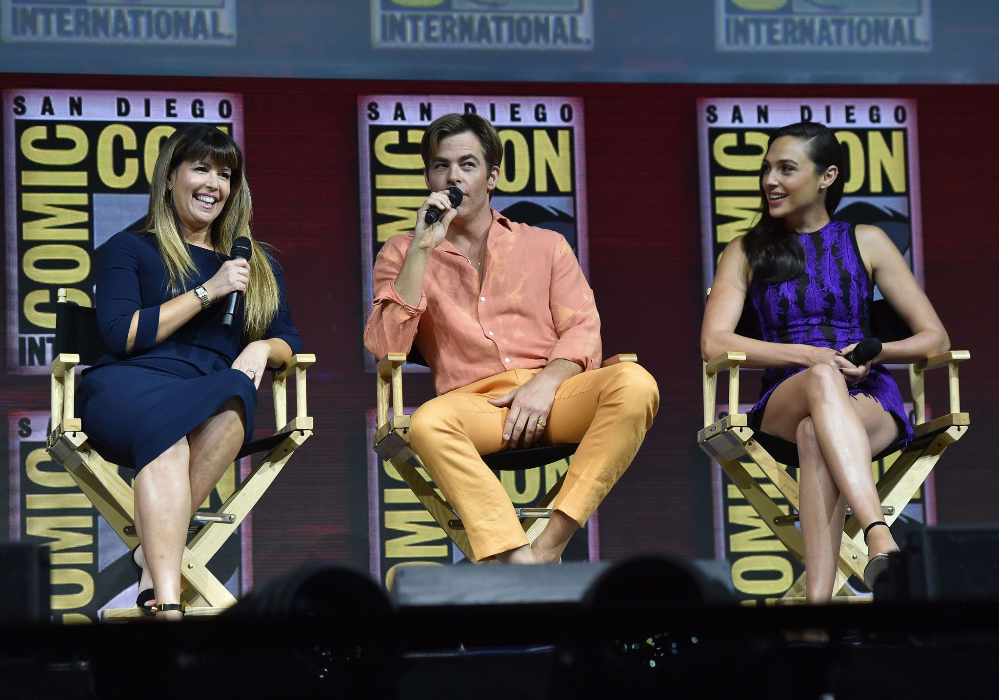 Patty Jenkins, Chris Pine, and Gal Gadot at an event for Wonder Woman 1984 (2020)