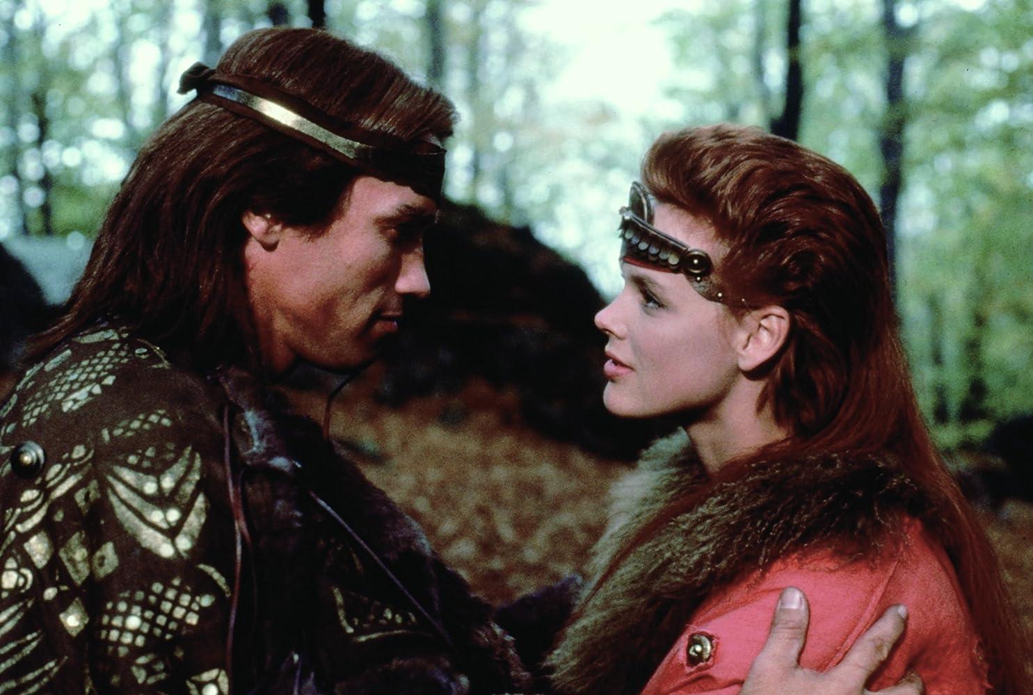 Arnold Schwarzenegger and Brigitte Nielsen in Red Sonja (1985)