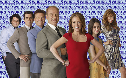 Kelsey Grammer, Patricia Heaton, Ty Burrell, Ayda Field, Fred Willard, Josh Gad, and Laura Marano in Back to You (2007)