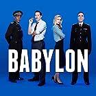 Paterson Joseph, James Nesbitt, Bertie Carvel, and Brit Marling in Babylon (2014)