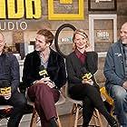 David Zellner, Nathan Zellner, Robert Pattinson, and Mia Wasikowska at an event for Damsel (2018)