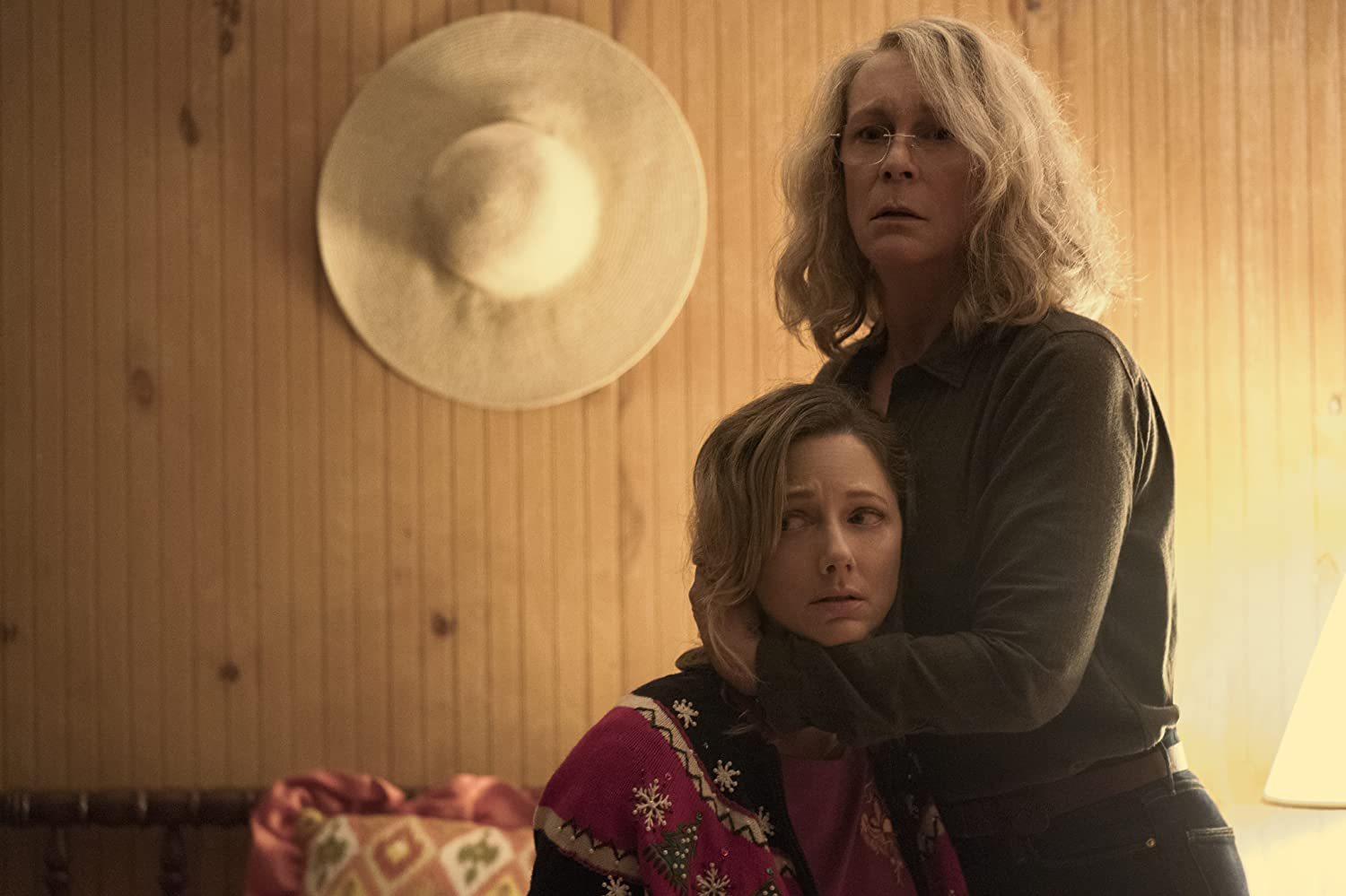 Jamie Lee Curtis and Judy Greer in Halloween (2018)