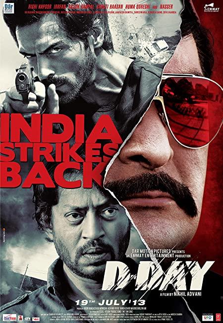 D-Day (2013) Hindi Blu-Ray - 480P   720P - x264 - 400MB   1.1GB - Download & Watch Online  Movie Poster - mlsbd