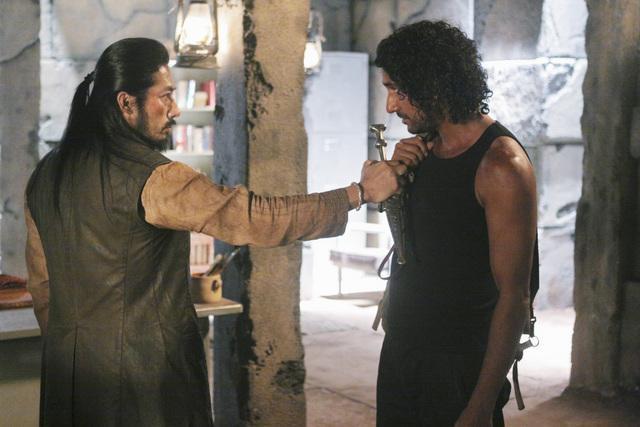 Naveen Andrews and Hiroyuki Sanada in Lost (2004)