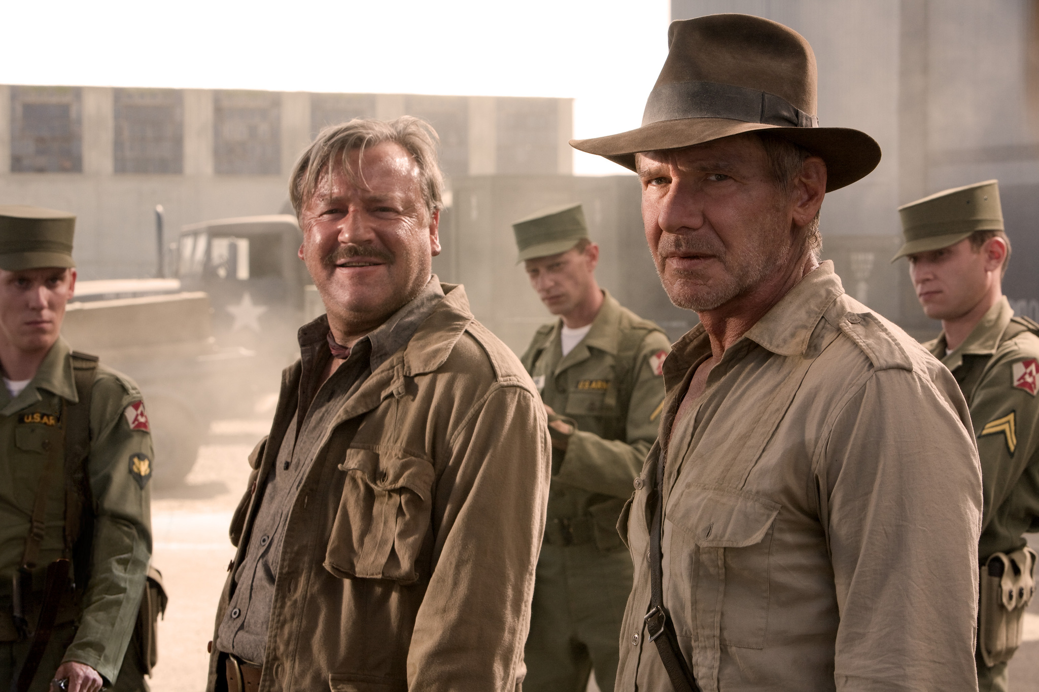Harrison Ford and Ray Winstone in Indiana Jones and the Kingdom of the Crystal Skull (2008)