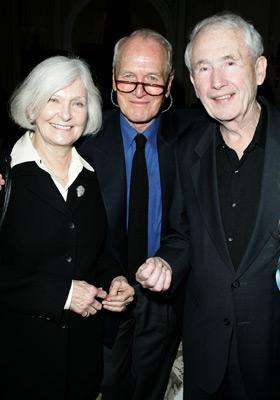 Paul Newman, Frank McCourt, and Joanne Woodward