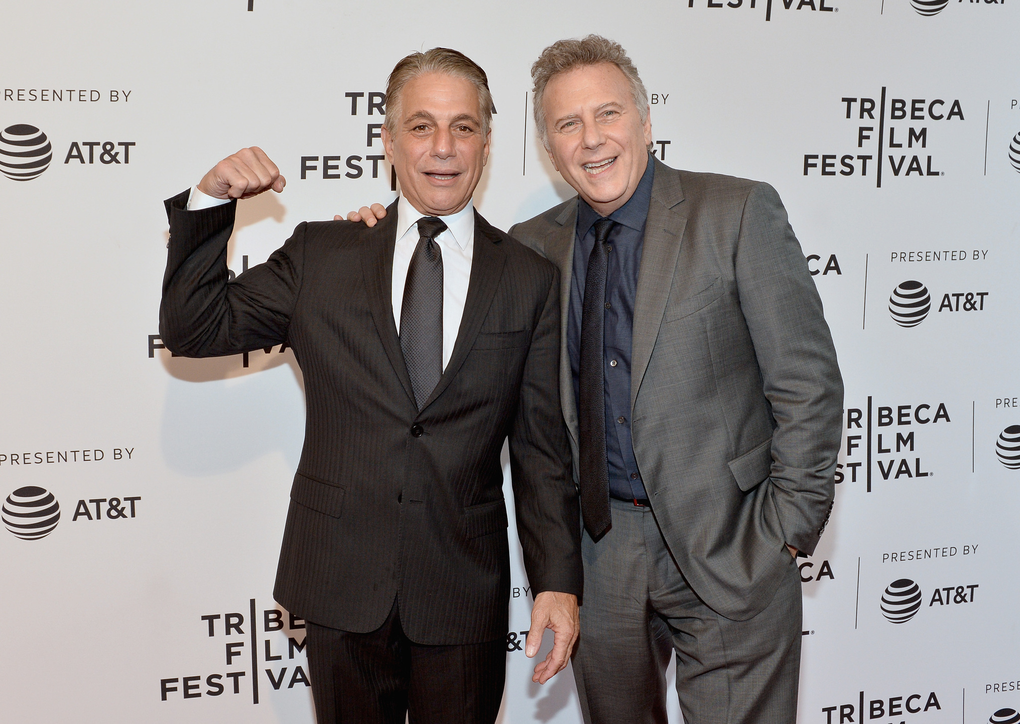 Tony Danza and Paul Reiser at an event for There's... Johnny! (2017)