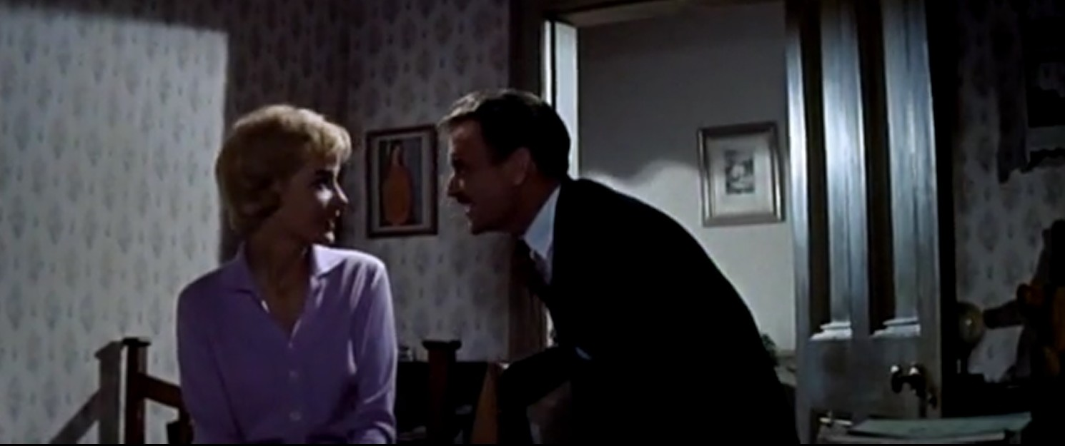 John Mills and Sylvia Syms in Flame in the Streets (1961)
