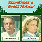 Henry Fonda, Paul Newman, Lee Remick, and Michael Sarrazin in Sometimes a Great Notion (1971)