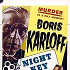 Boris Karloff, Warren Hull, and Jean Rogers in Night Key (1937)