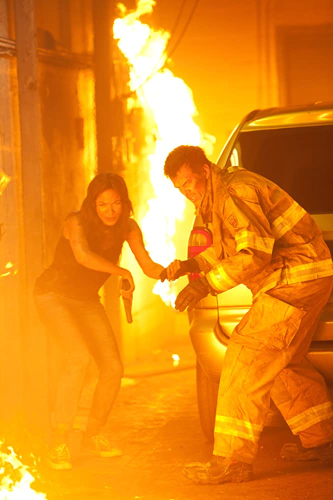 Rosario Dawson and Josh Duhamel in Fire with Fire (2012)