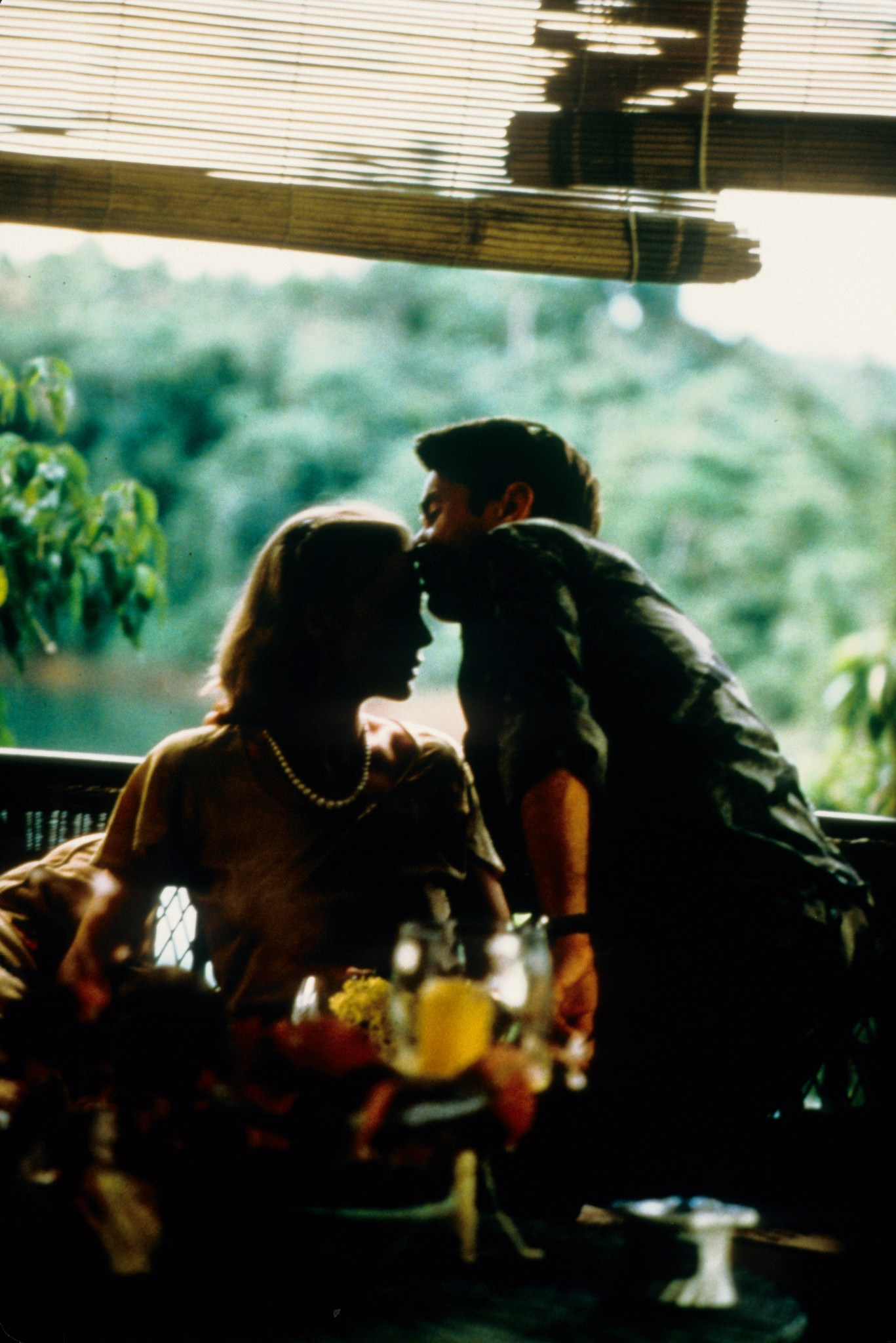 Martin Sheen and Aurore Clément in Apocalypse Now (1979)