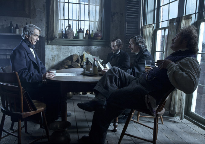 James Spader, David Strathairn, John Hawkes, and Tim Blake Nelson in Lincoln (2012)
