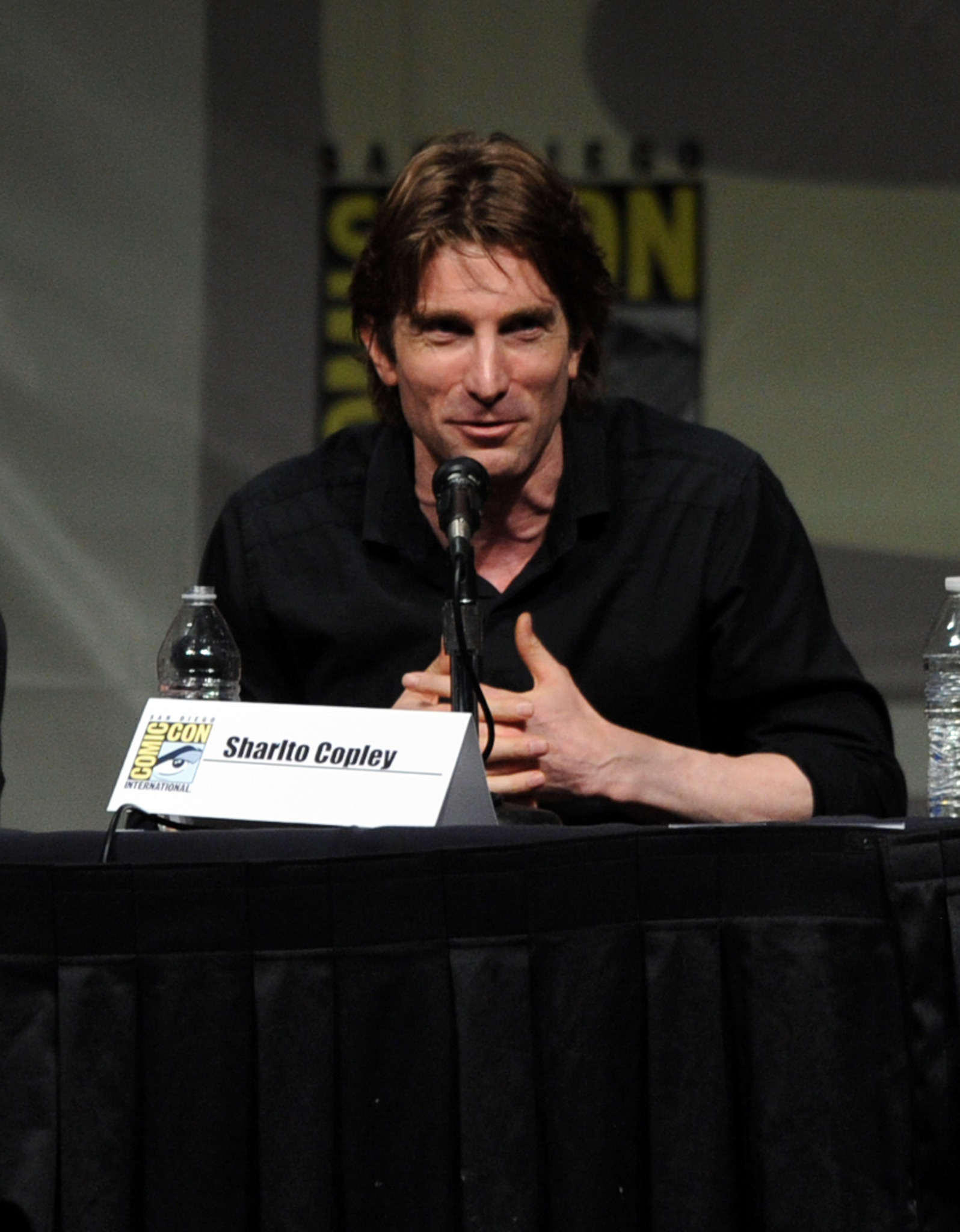 Sharlto Copley at an event for Elysium (2013)