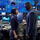 Idris Elba and Rinko Kikuchi in Pacific Rim (2013)
