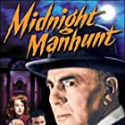 Leo Gorcey, Charles Halton, Ann Savage, and George Zucco in Midnight Manhunt (1945)