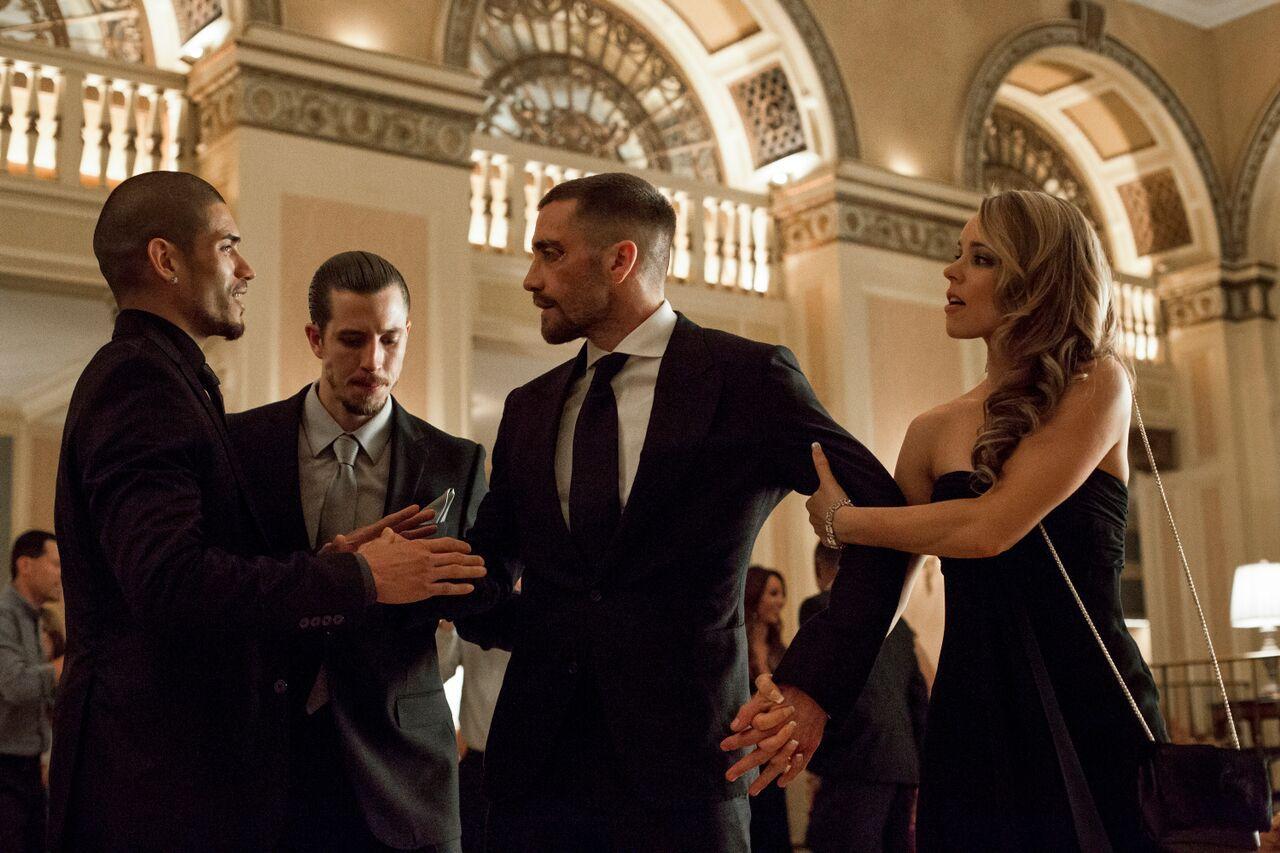 Jake Gyllenhaal, Rachel McAdams, Beau Knapp, and Miguel Gomez in Southpaw (2015)