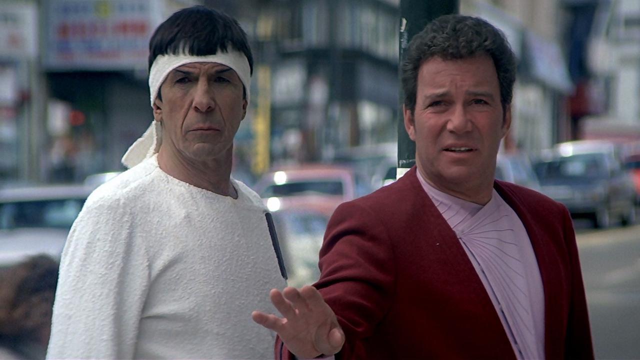 Leonard Nimoy and William Shatner in Star Trek IV: The Voyage Home (1986)