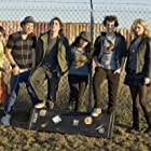 Gaelan Connell, Ryan Donowho, Vanessa Hudgens, Aly Michalka, Charlie Saxton, and Tim Jo in Bandslam (2009)