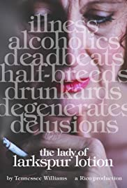 The Lady of Larkspur Lotion Poster