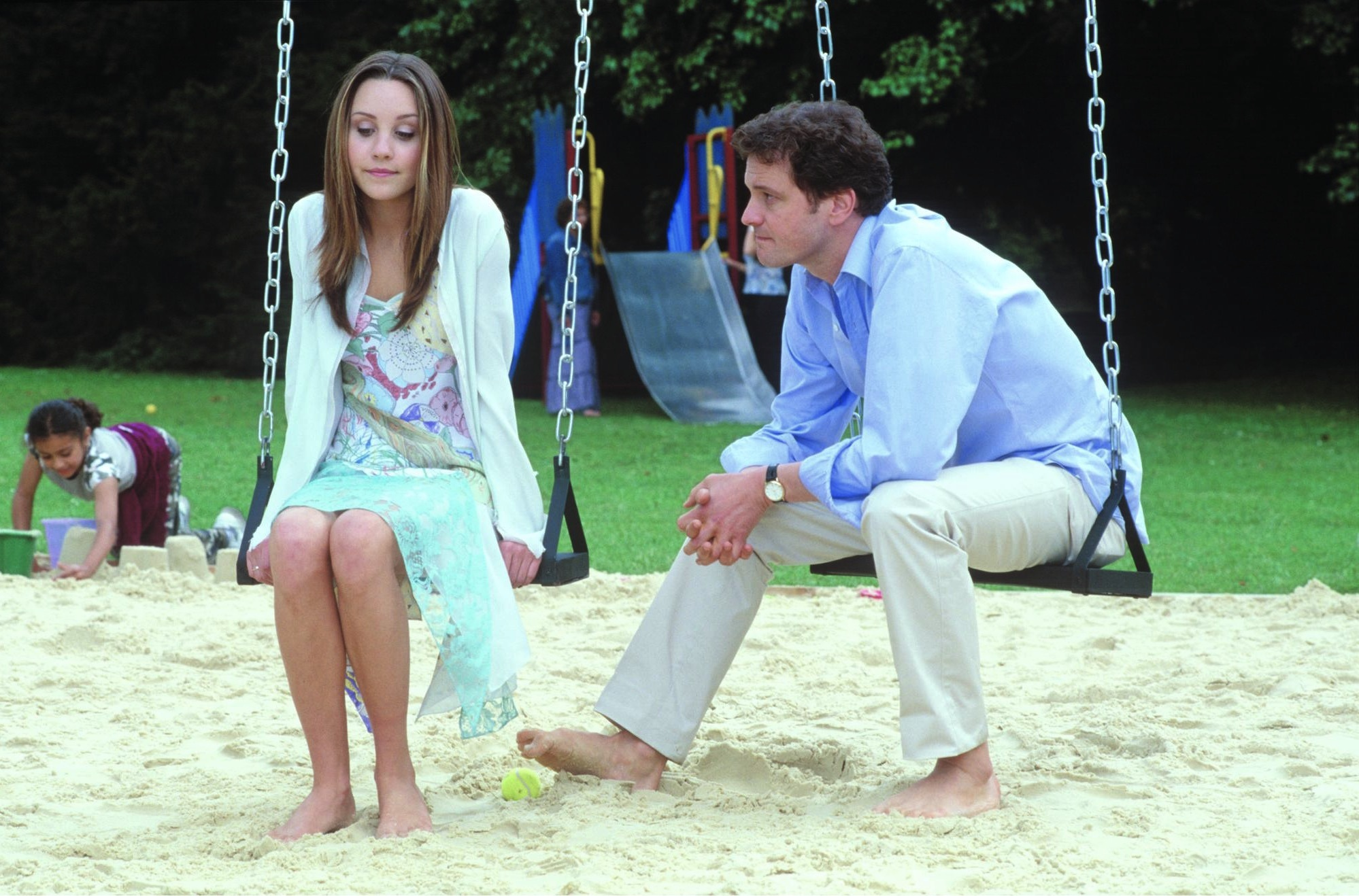 Colin Firth and Amanda Bynes in What a Girl Wants (2003)