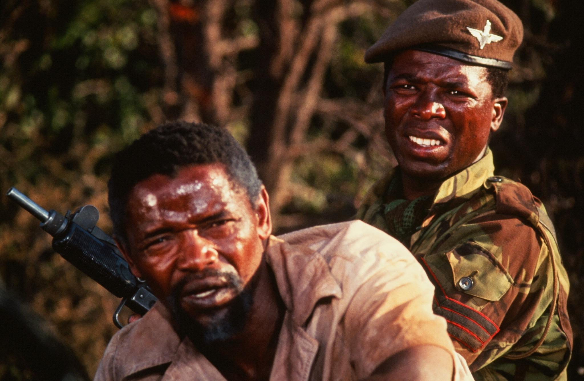 John Kani and Winston Ntshona in The Wild Geese (1978)