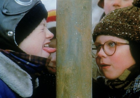 Peter Billingsley and Scott Schwartz in A Christmas Story (1983)