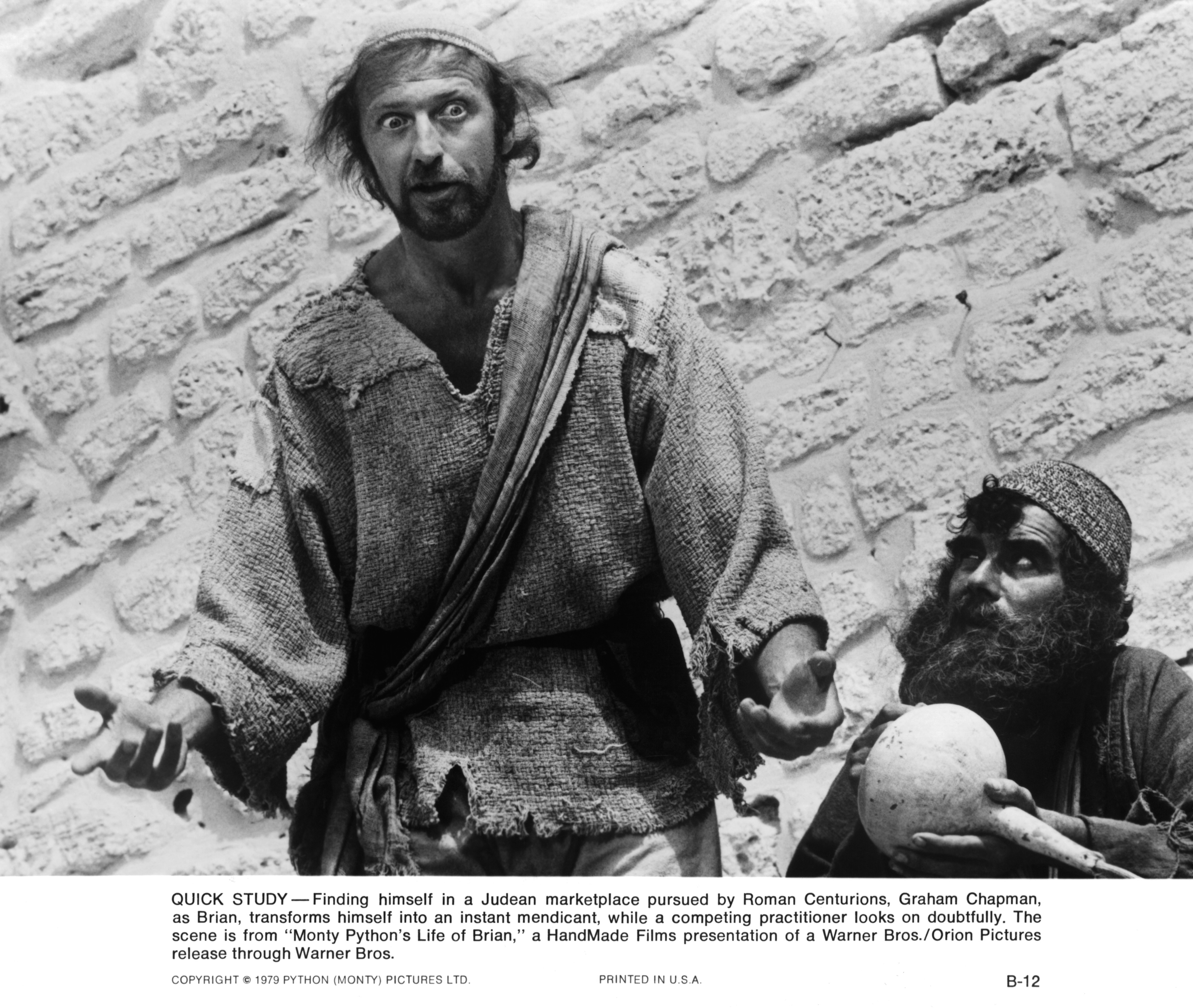 Graham Chapman and Terence Bayler in Life of Brian (1979)