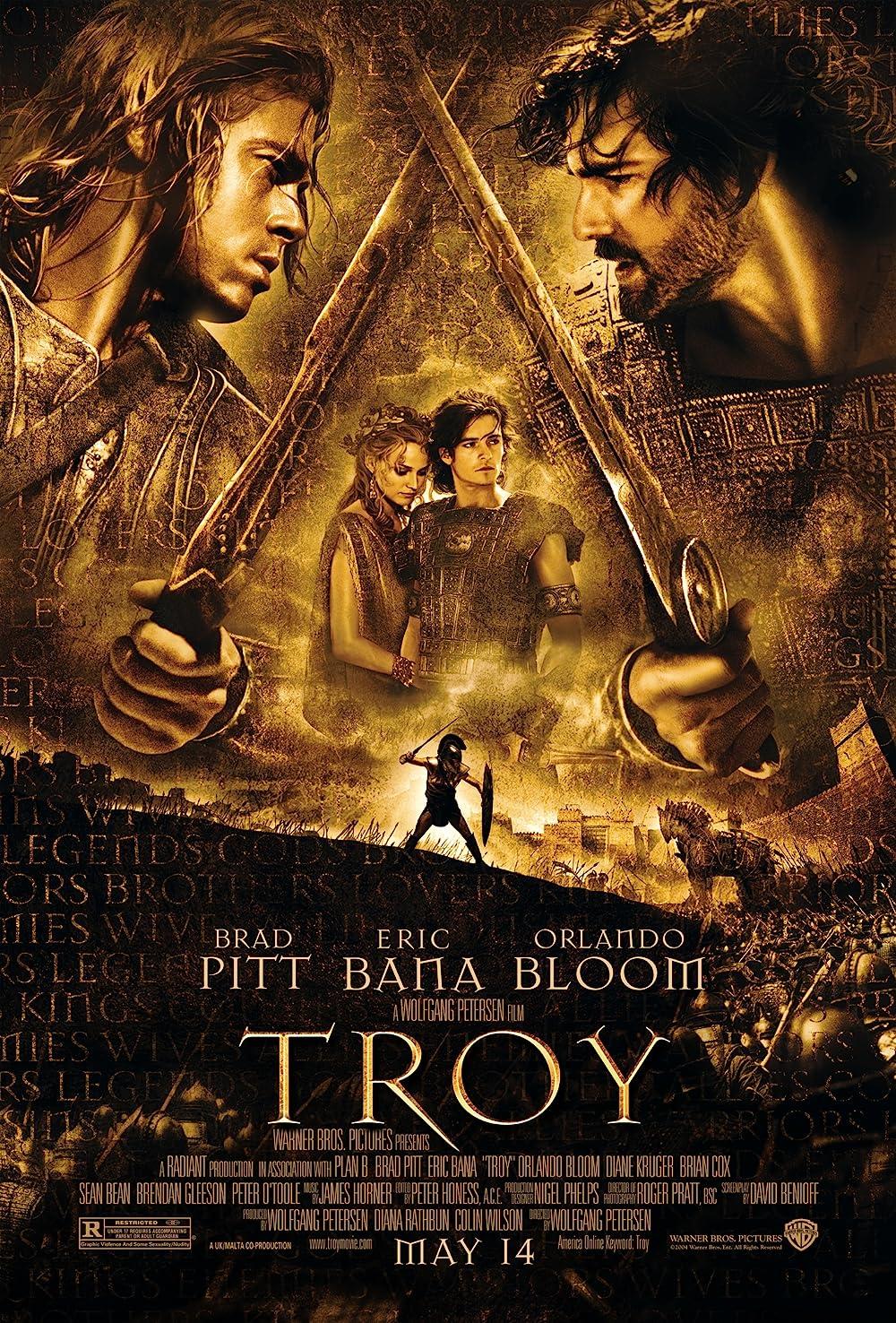 Troy 2004 Hindi ORG Dual Audio 720p BluRay ESub 2GB Download