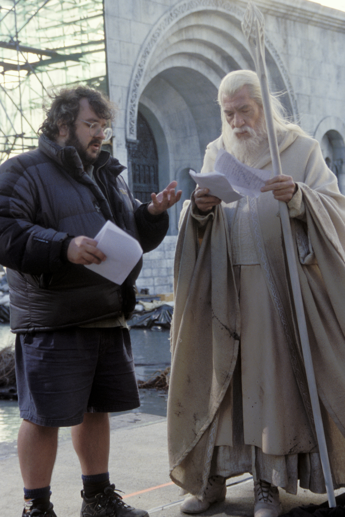 Peter Jackson and Ian McKellen in The Lord of the Rings: The Return of the King (2003)