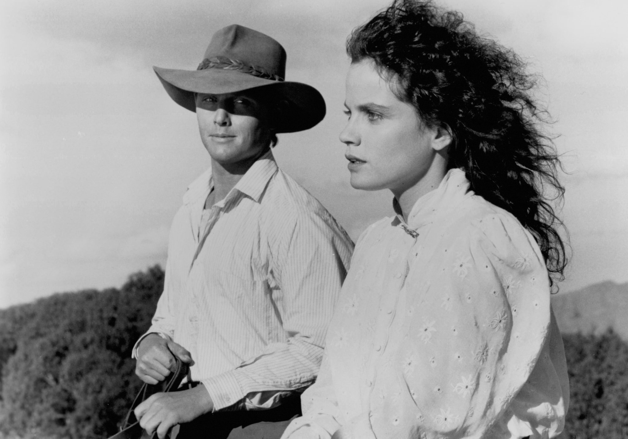 Tom Burlinson and Sigrid Thornton in The Man from Snowy River II (1988)