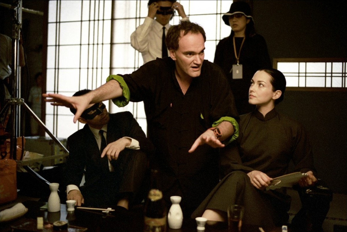 Quentin Tarantino and Julie Dreyfus in Kill Bill: Vol. 1 (2003)