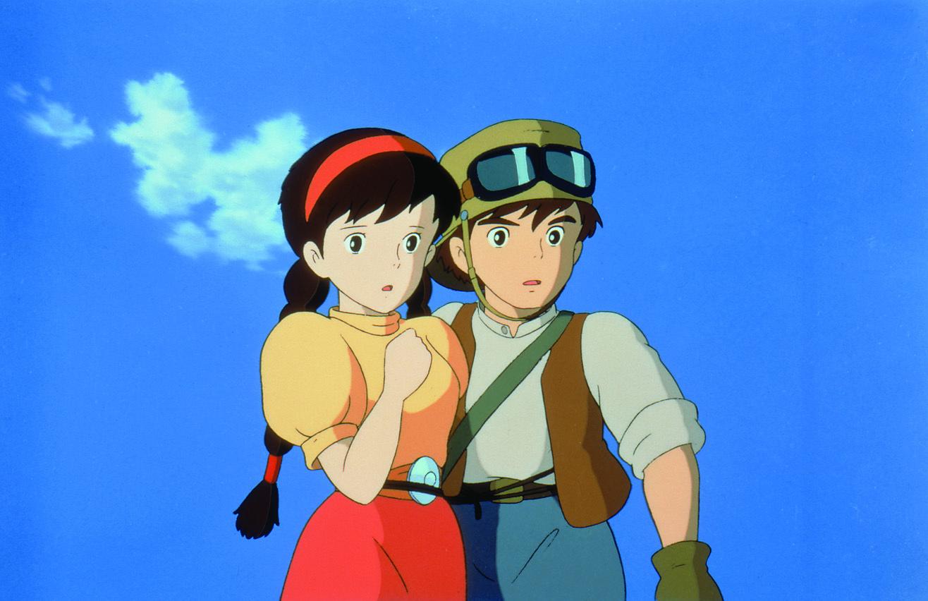Mayumi Tanaka and Keiko Yokozawa in Tenkû no shiro Rapyuta (1986)