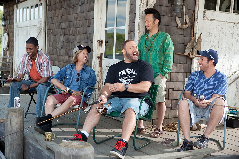 Adam Sandler, Chris Rock, Rob Schneider, David Spade, and Kevin James in Grown Ups (2010)