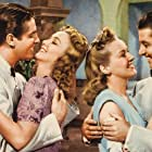 Don Ameche, Betty Grable, Robert Cummings, and Carole Landis in Moon Over Miami (1941)