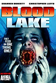 Christopher Lloyd and Shannen Doherty in Blood Lake: Attack of the Killer Lampreys (2014)