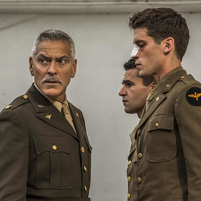 George Clooney, Christopher Abbott, and Pico Alexander in Catch-22 (2019)