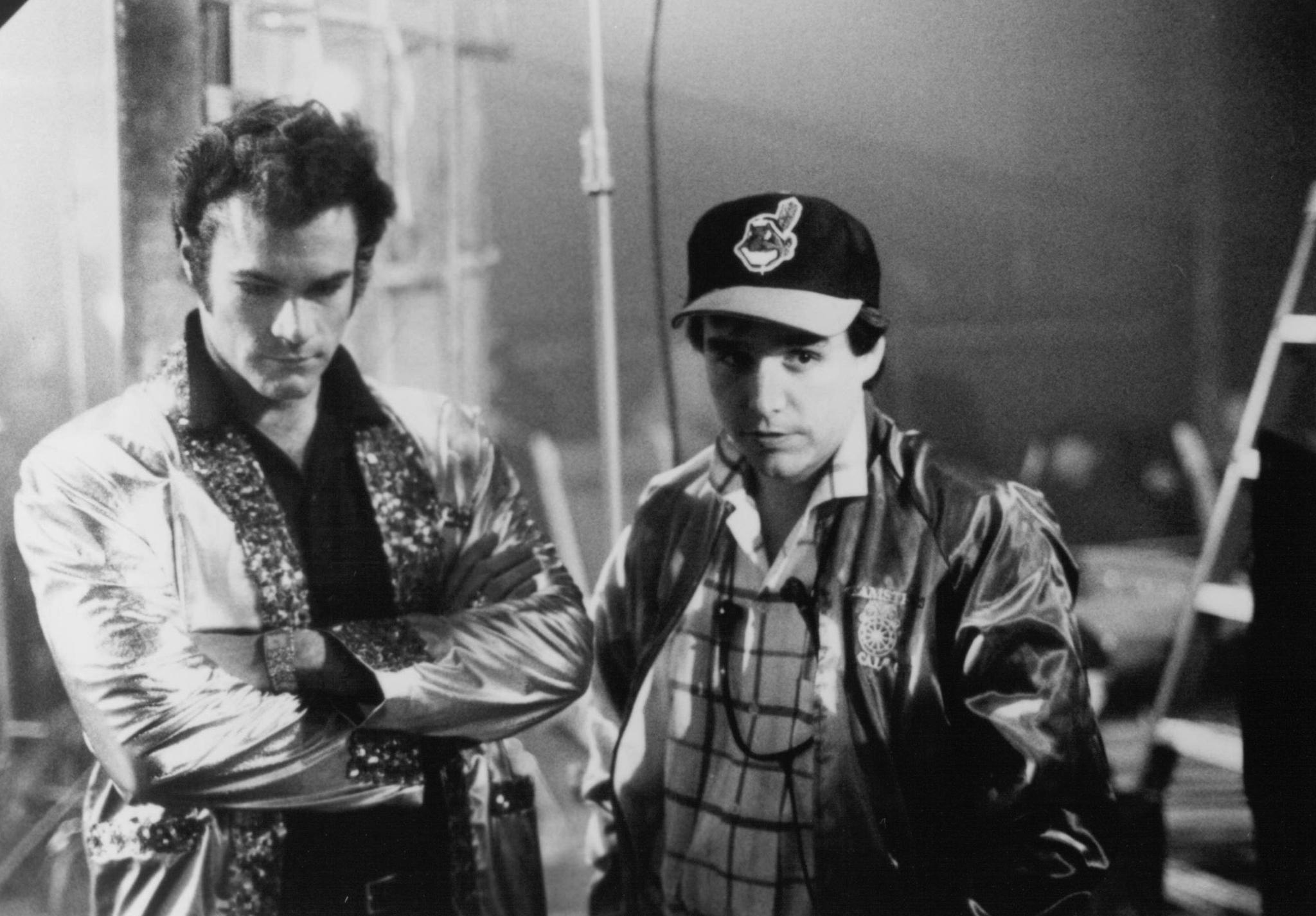 Chris Columbus and David Keith in Heartbreak Hotel (1988)