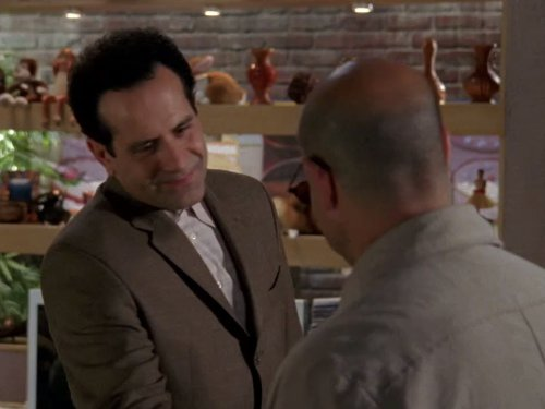 Tony Shalhoub and Stanley Tucci in Monk (2002)