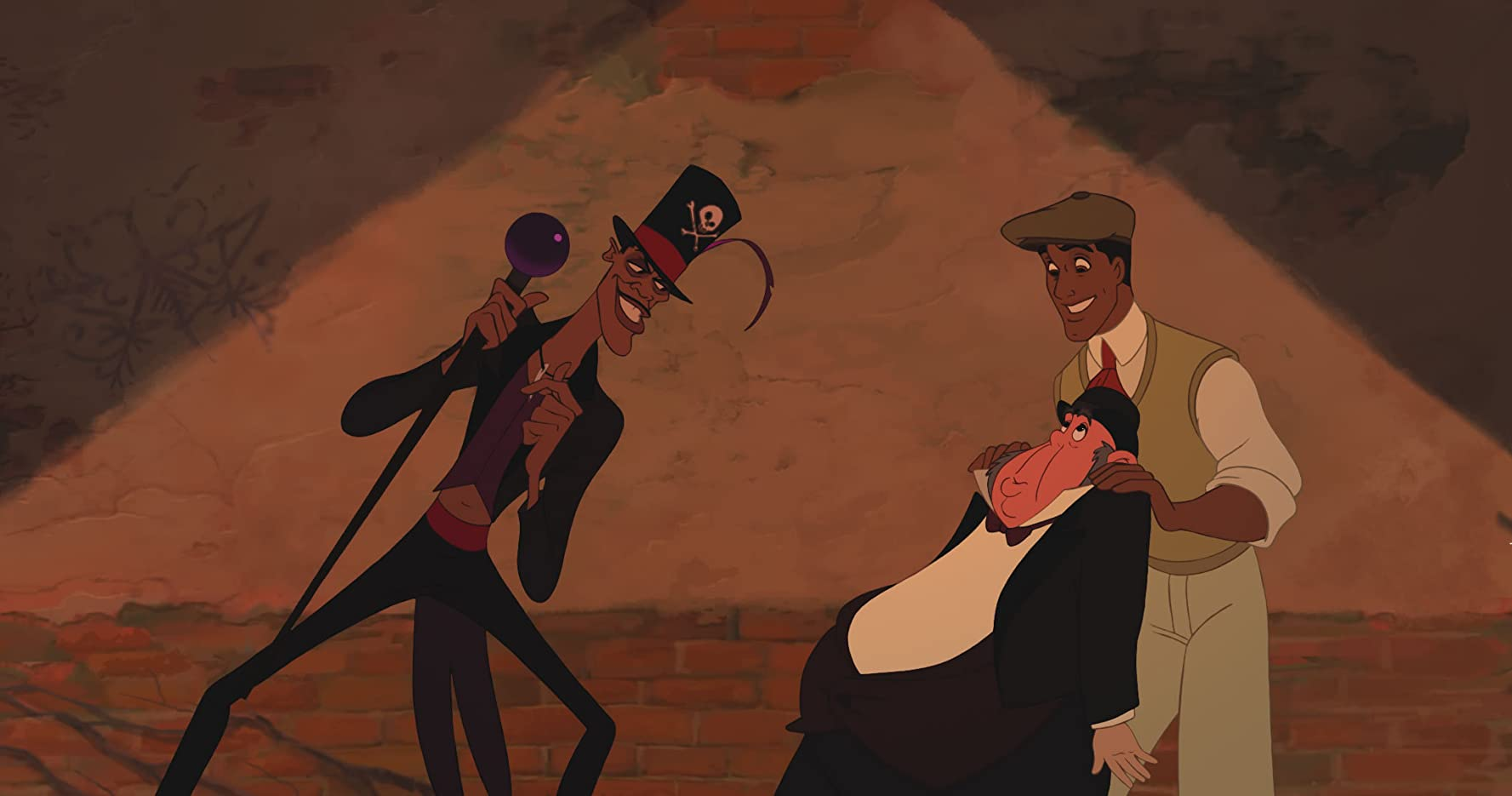 Bruno Campos, Peter Bartlett, and Keith David in The Princess and the Frog (2009)