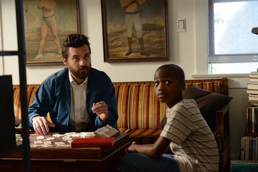 Jake Johnson and Akinsola Aribo in The Pretty One (2013)